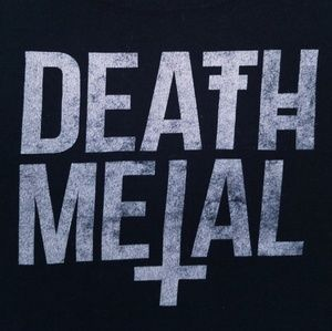 Death metal fitted graphic crop top